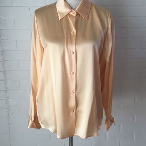 Saks Fifth Avenue Folio Collection silk blouse 16